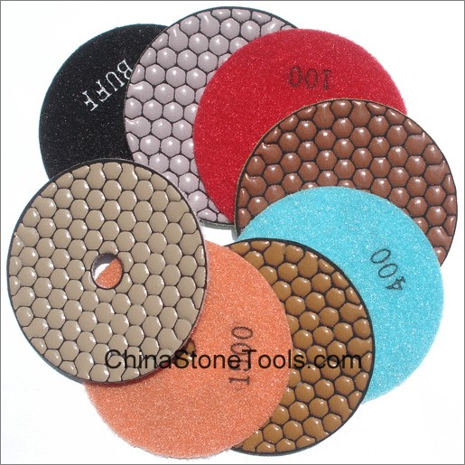 Hex Shape Dry Polishing Pad
